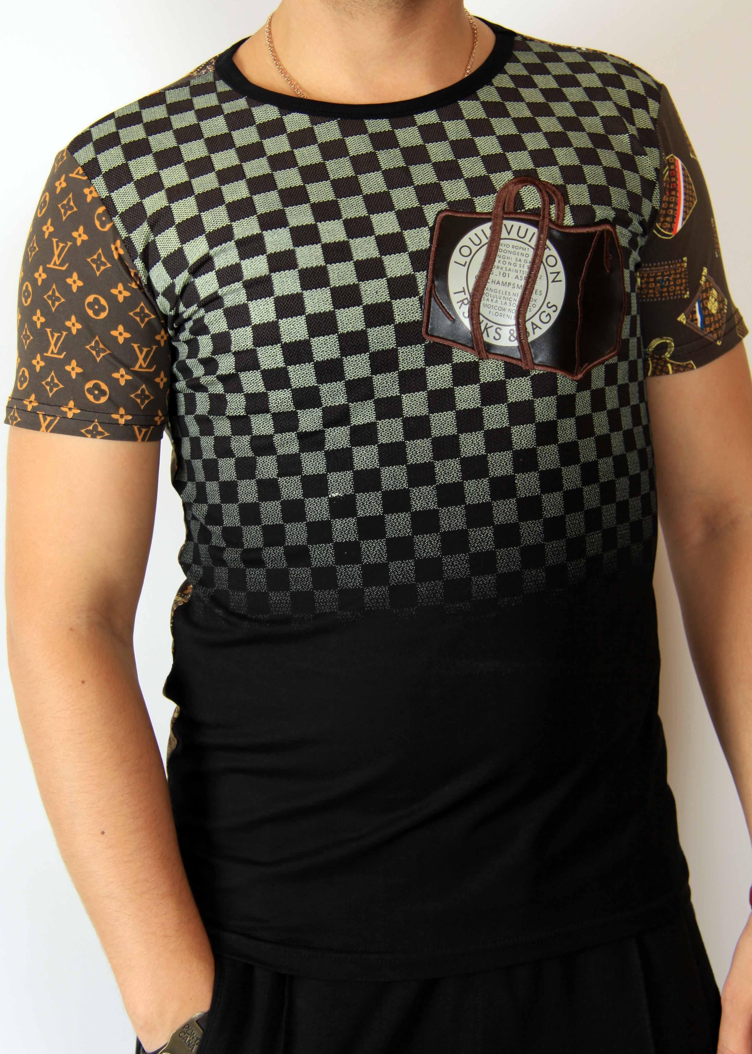 c1ec3b9bb9bc футболка мужская Louis Vuitton комбинированная интернет магазин